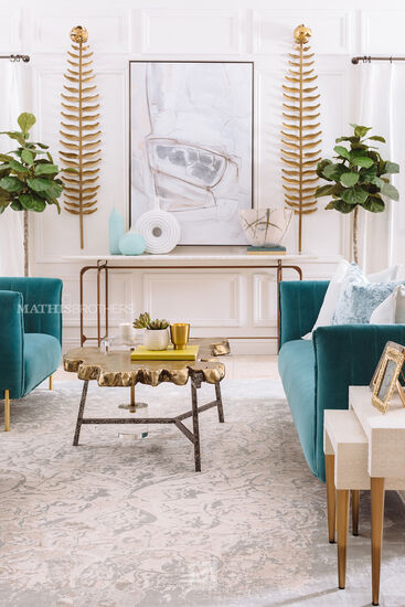 Rug With Turquoise Sofa: Contemporary Channel Tufted Sofa In Turquoise