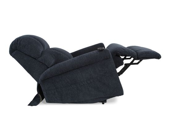 "Rolled Arm Casual 33"" Lift Recliner in Dark Blue"
