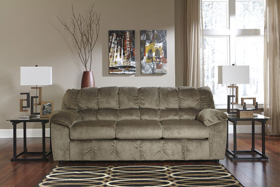 "Casual Microfiber 90"" Sofa in Dune"