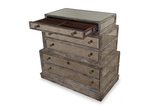 Three-Drawer Traditional Lateral File in Brown