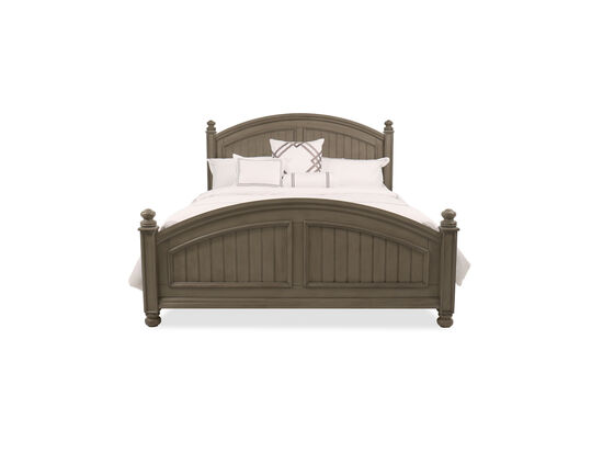 "64"" Casual King Panel Bed in Khaki Gray"