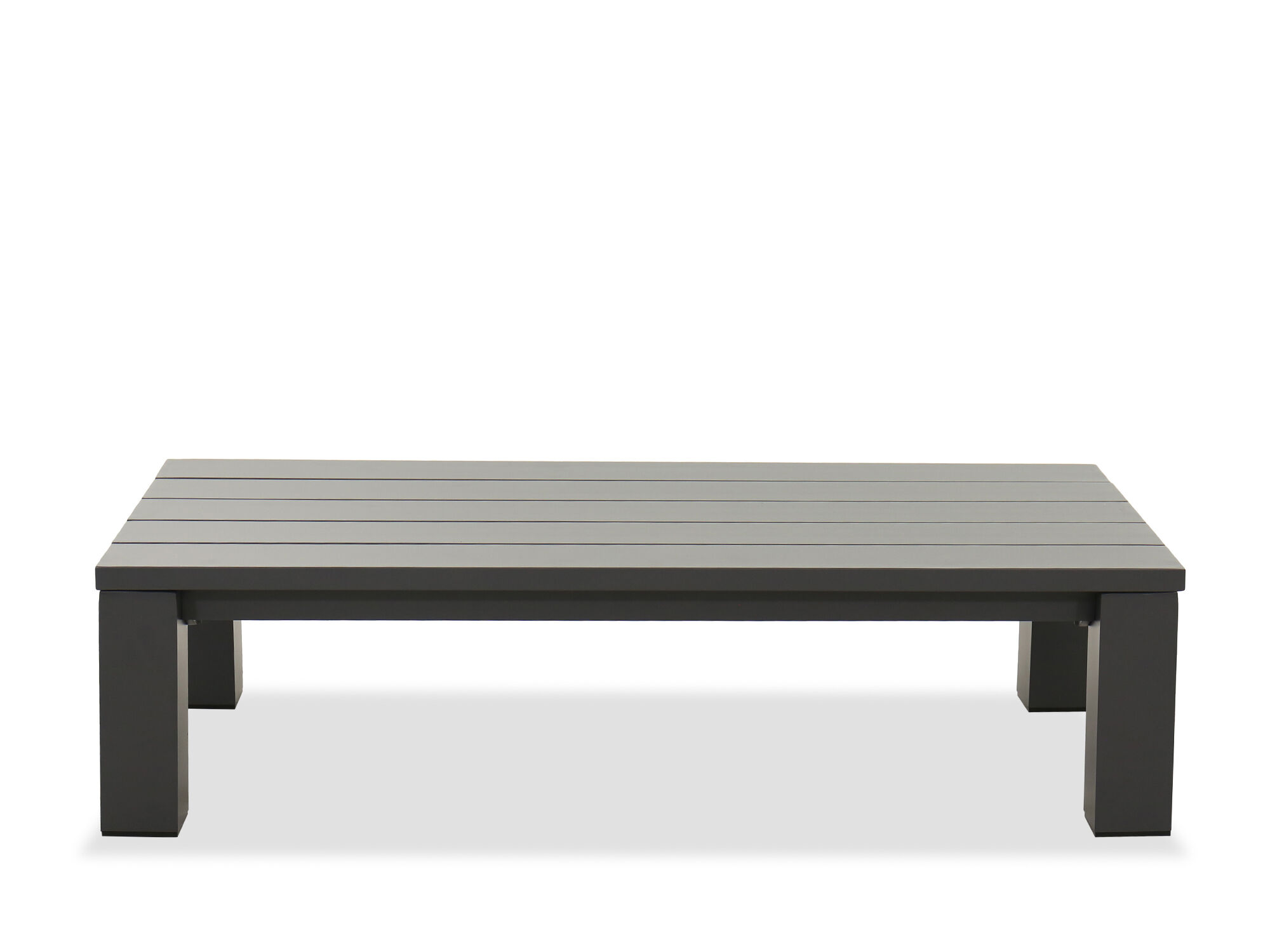 Aluminum Patio Coffee Table In Gray Mathis Brothers Furniture