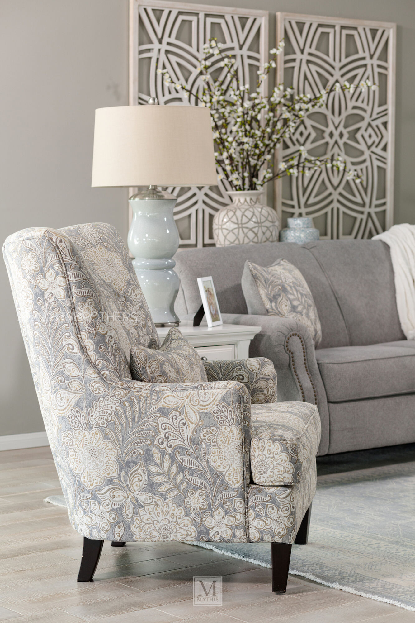 Jacquard Patterned Contemporary 30 Quot Accent Chair Mathis