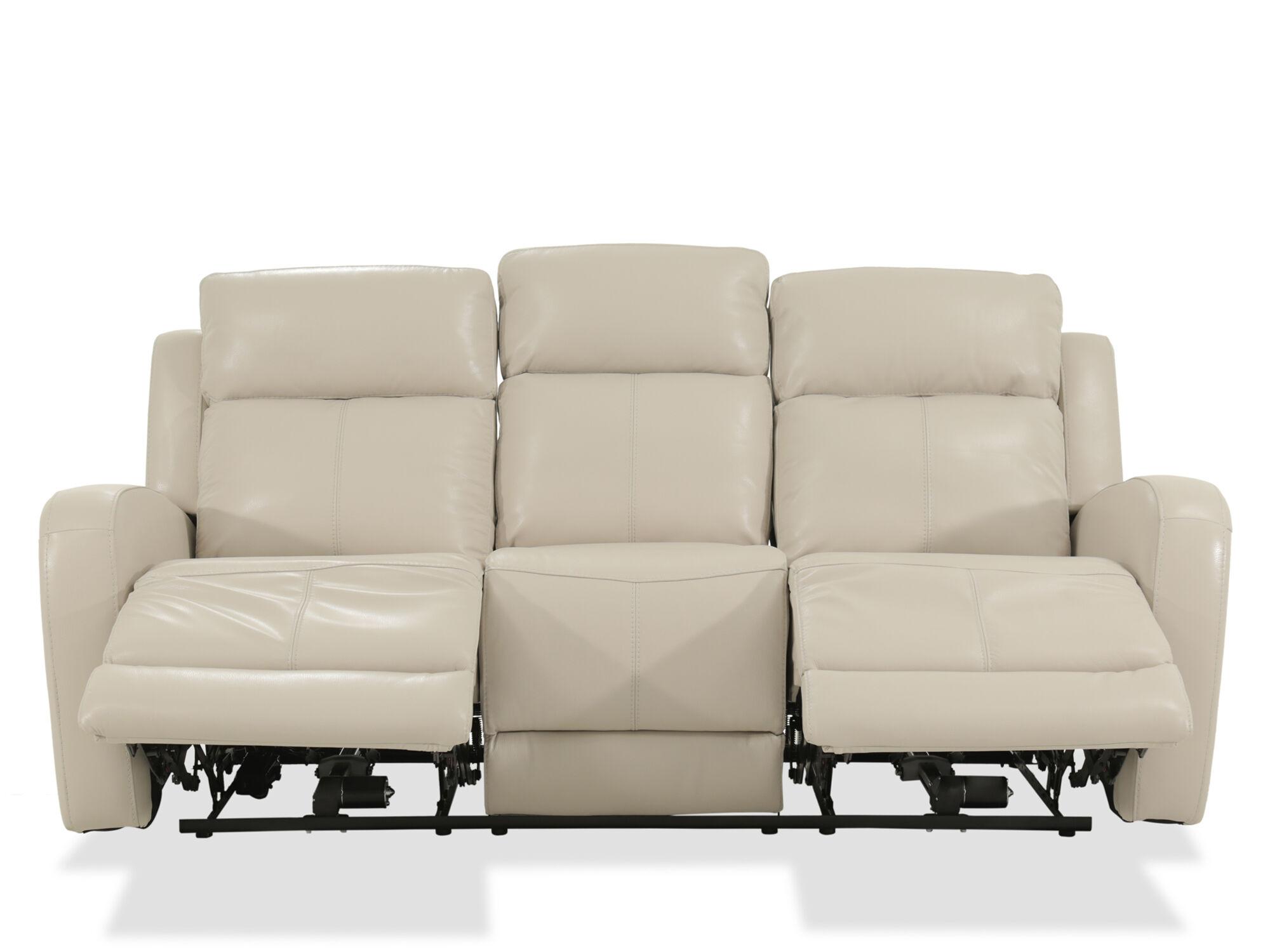 ... Leather 81u0026quot; Power Reclining Sofa ...