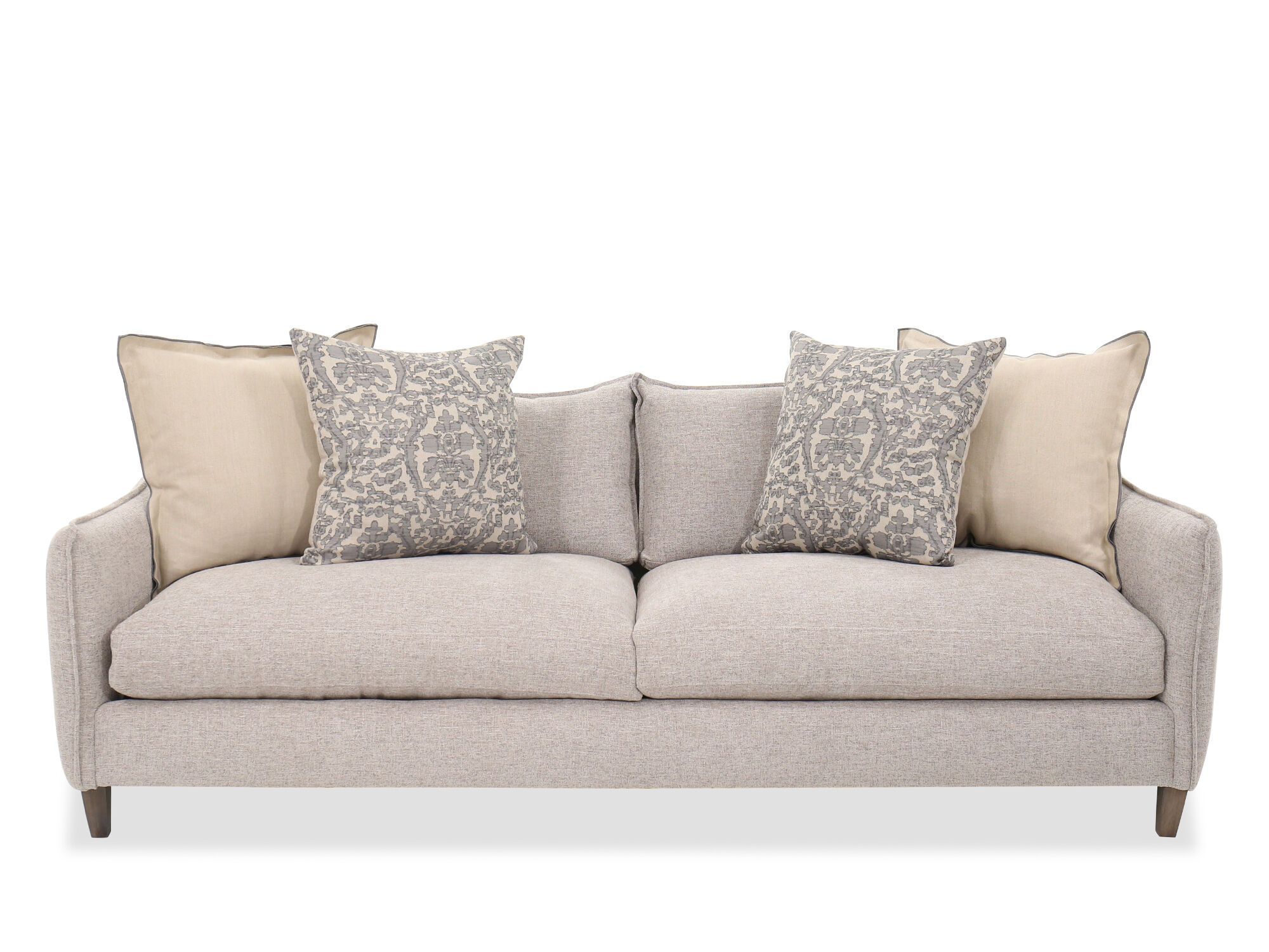 Casual Sofa In Gray Mathis Brothers Furniture