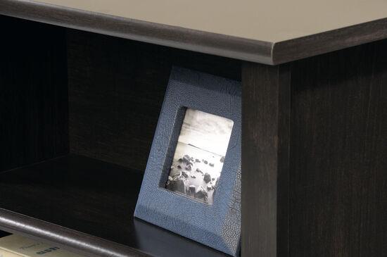 """Contemporary 47"""" Twin Bookcase Headboardin Estate Black"""