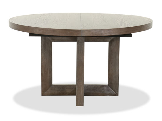 "Transitional 54"" to 72"" Extendable Dining Table in Dark Brown"