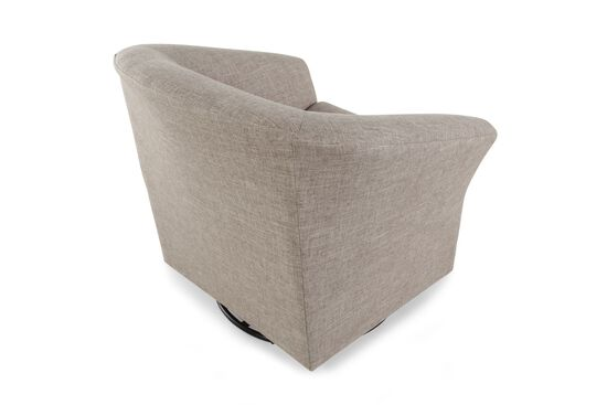 """Contemporary 20"""" Swivel Glider Chair in Brown"""