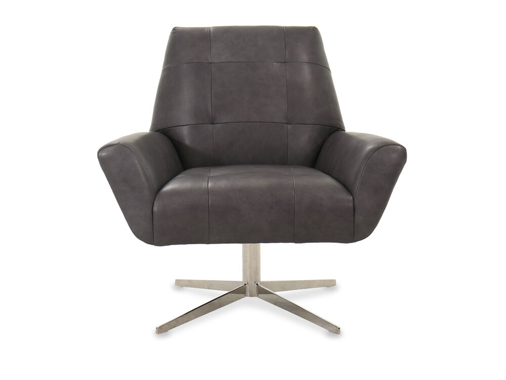 Modern Living Room Swivel Chair in Gray | Mathis Brothers ...
