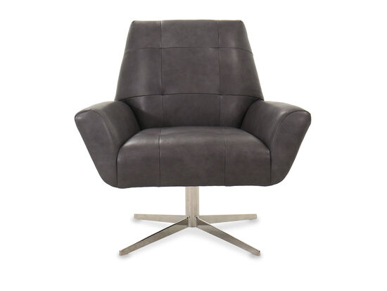 Modern Living Room Swivel Chair in Gray