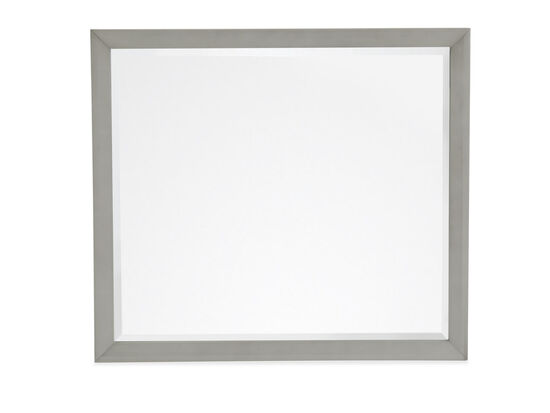 Contemporary Square Youth Mirror in Warm Gray