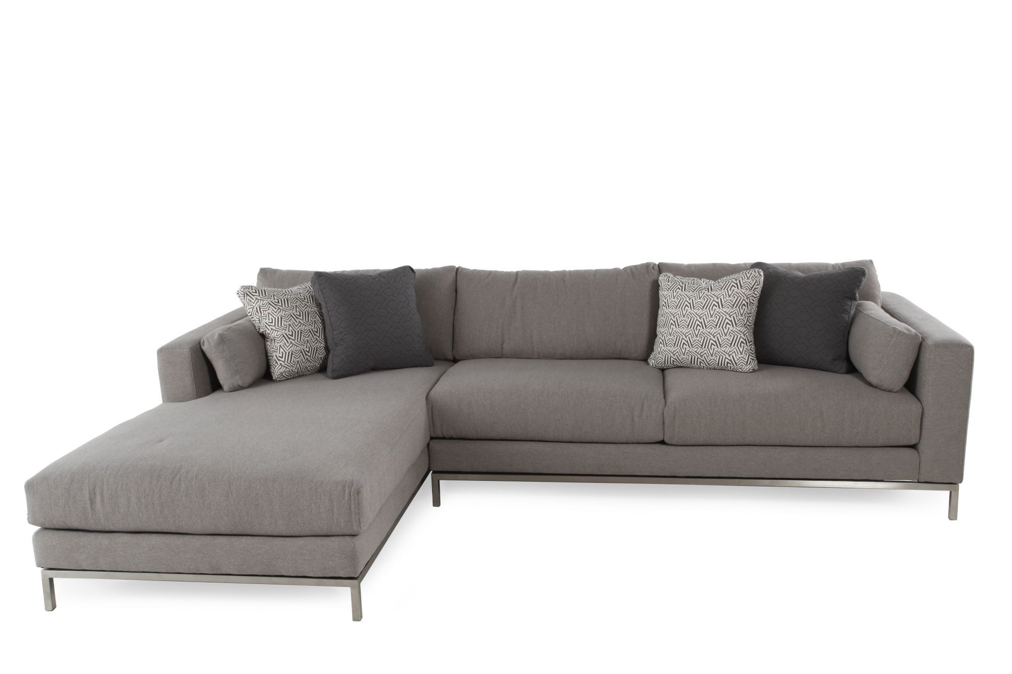 Jonathan Louis Ellis Two-Piece Sectional ...  sc 1 st  Mathis Brothers : sectional with two chaises - Sectionals, Sofas & Couches