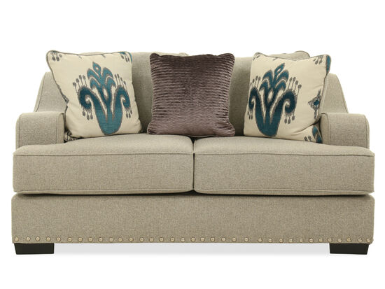 "Textured Contemporary 45"" Loveseat in Beige"