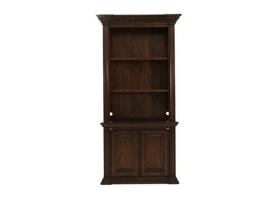 Traditional Two-Door Bookcase in Tobacco