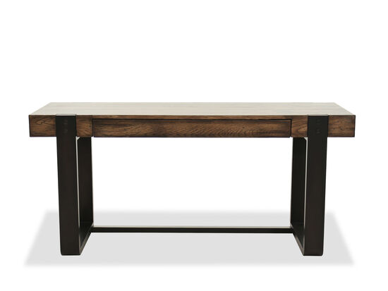 "67"" Casual Leg Desk in Dark Wood"
