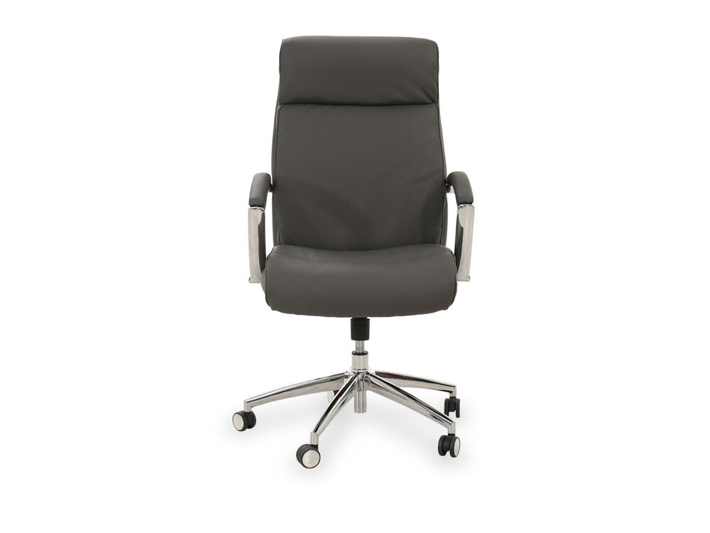 Casual Leather Manager Chair in Gray
