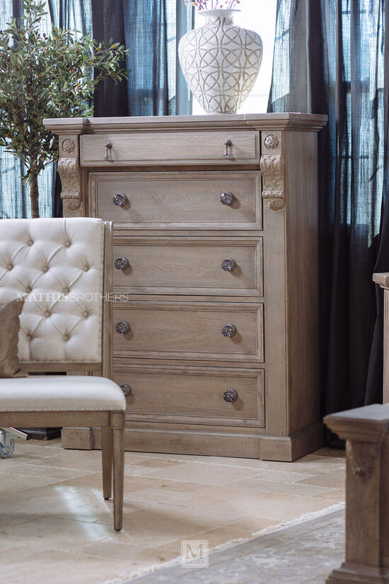 """20"""" Five-Drawer Contemporary Chestin Parchment"""