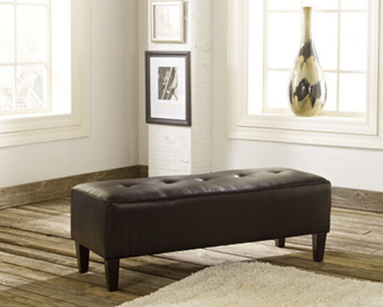 "Tufted Traditional 47"" Oversized Accent Ottoman in Brown"