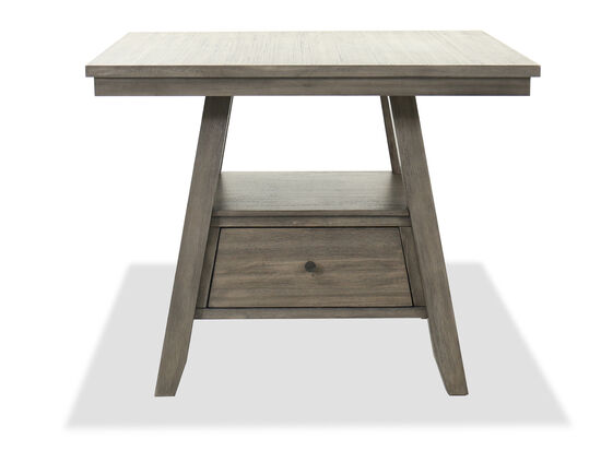 Traditional Rectangle Counter Table in Gray
