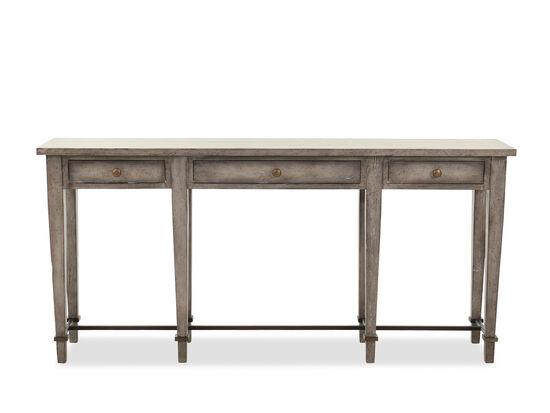 Three-Drawer Casual Narrow Console Table in Medium Grey