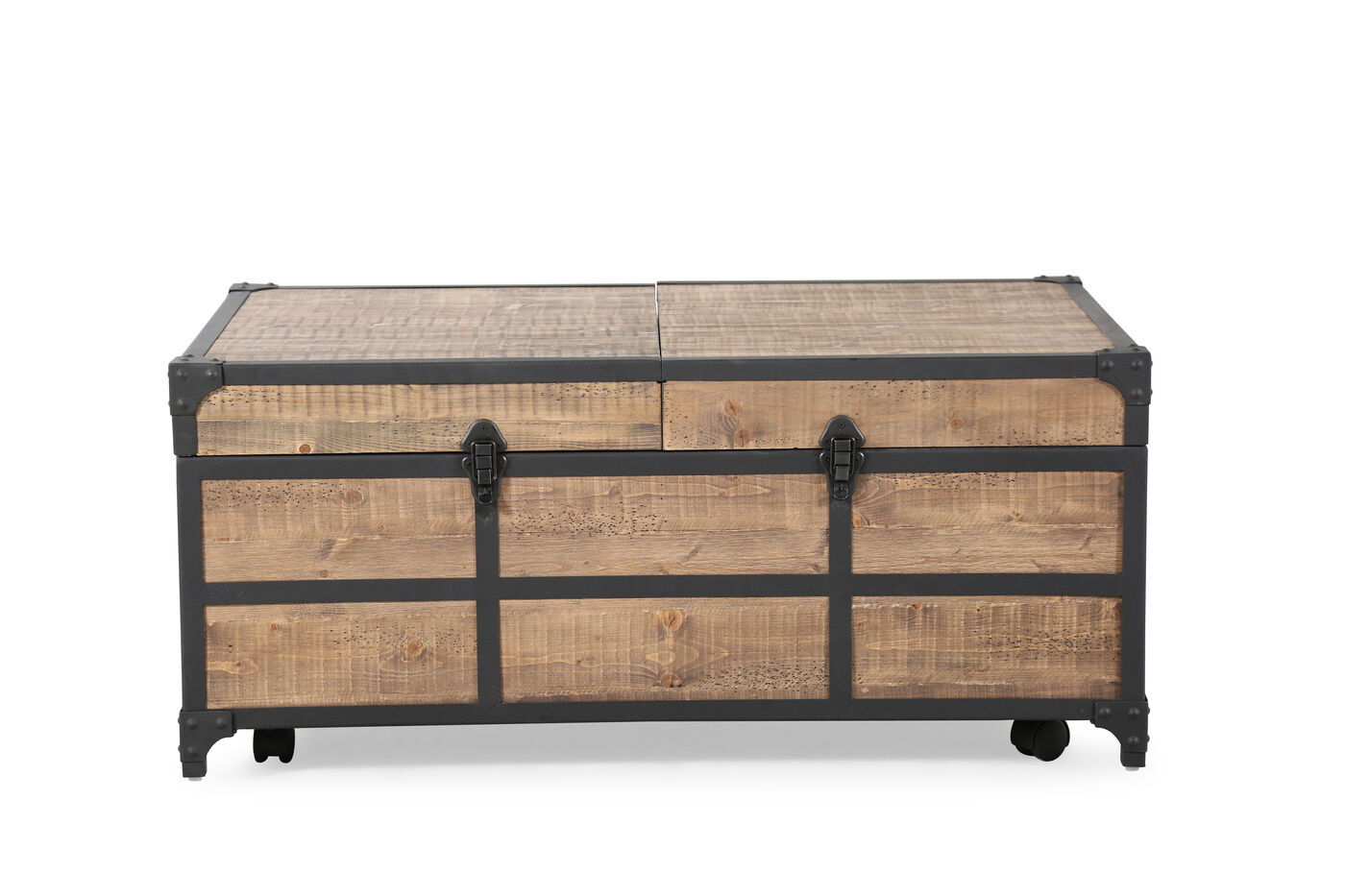 Expandable Rectangular Traditional Cocktail Table In Weathered Barley Mathis Brothers Furniture