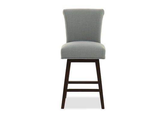 Armless Swivel Bar Stool in Gray