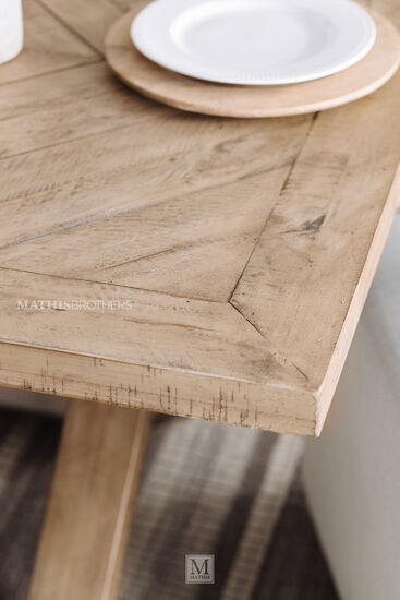 "88"" Rectangular Wood Table in Light Brown"
