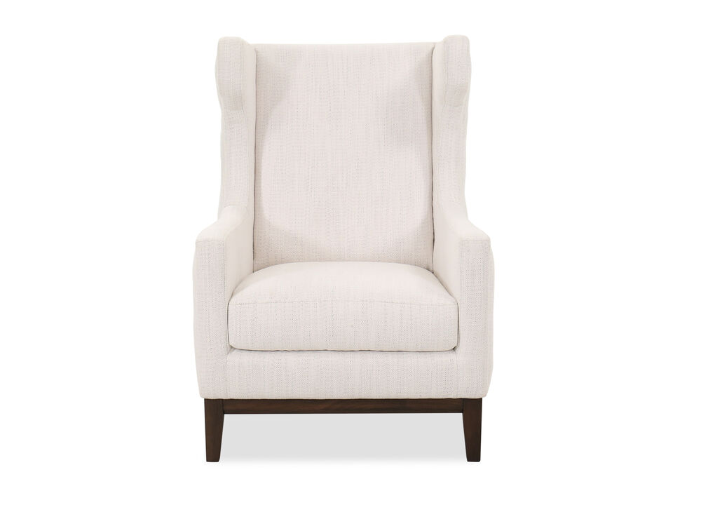Button Tufted Accent Chair In White Mathis Brothers