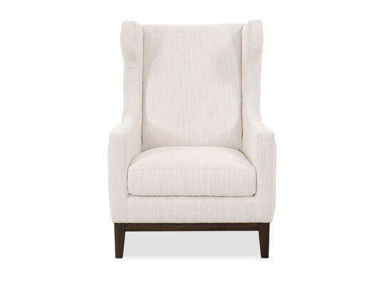 Contemporary Button-Tufted Accent Chair in White