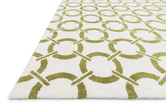 Transitional Rug in Ivory/Peridot