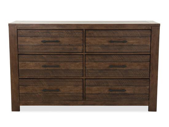 "40"" Industrial Six-Drawer Dresser in Brown"