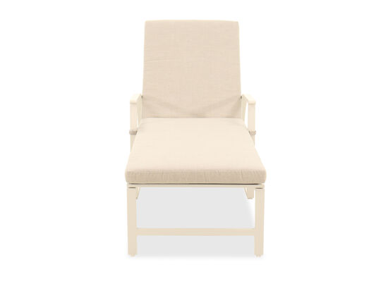 Adjustable Reclining Casual Chaise in Light Brown