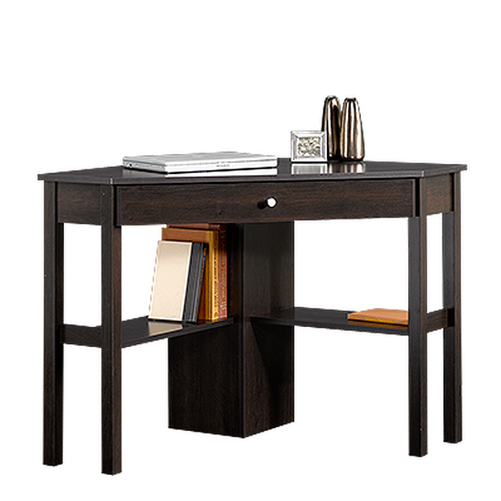 "46"" Casual One-Drawer Corner Computer Desk in Cinnamon Cherry"