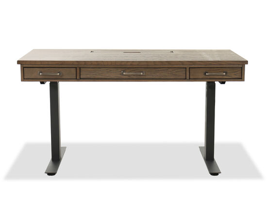 "Casual 60"" Terrace Point Adjustable Table Desk in Brown"