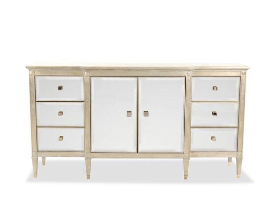 "39"" Modern Dresser in Auric Silver Leaf"