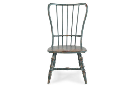 Spindle Back 43'' Side Chairin Antique Blue