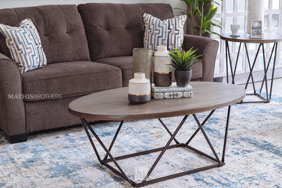 Three-Piece Contemporary Table Set in Brown