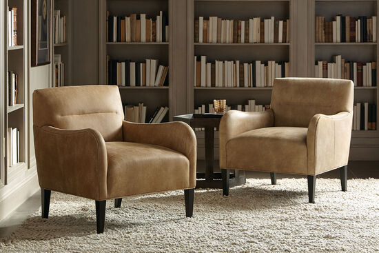 """Transitional 28.5"""" Chair in Brown"""