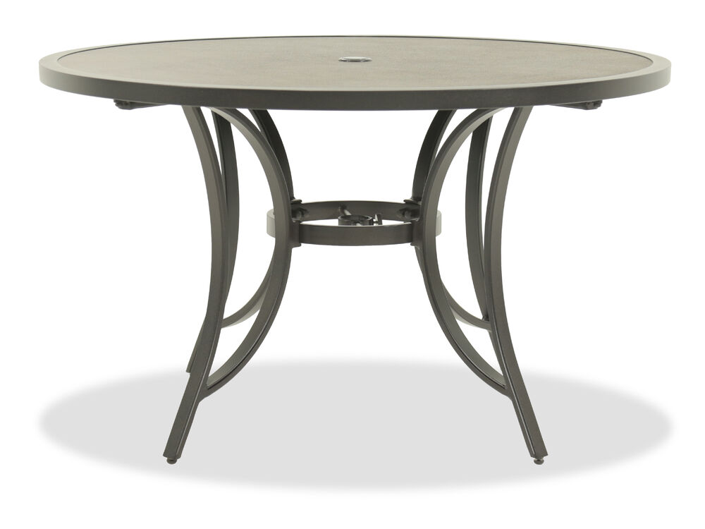 Glass Top Contemporary Round Dining Table in Brown | Mathis ...
