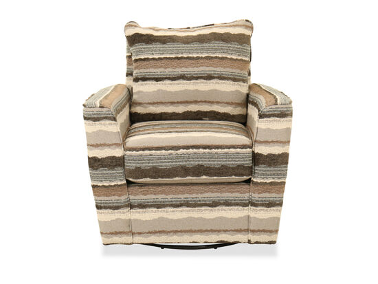 Contemporary Patterned Swivel Accent Chair