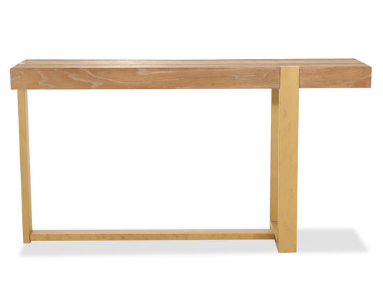Casual Sofa Table in Brown