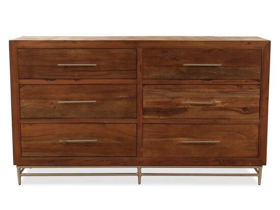 "39"" Casual Six-Drawer Dresser in Brown"