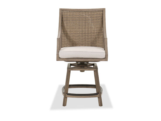 Traditional Swivel Gathering Stool in Brown