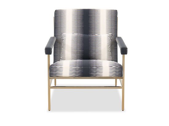 """Modern Canted 29"""" Chair in Blue /White"""