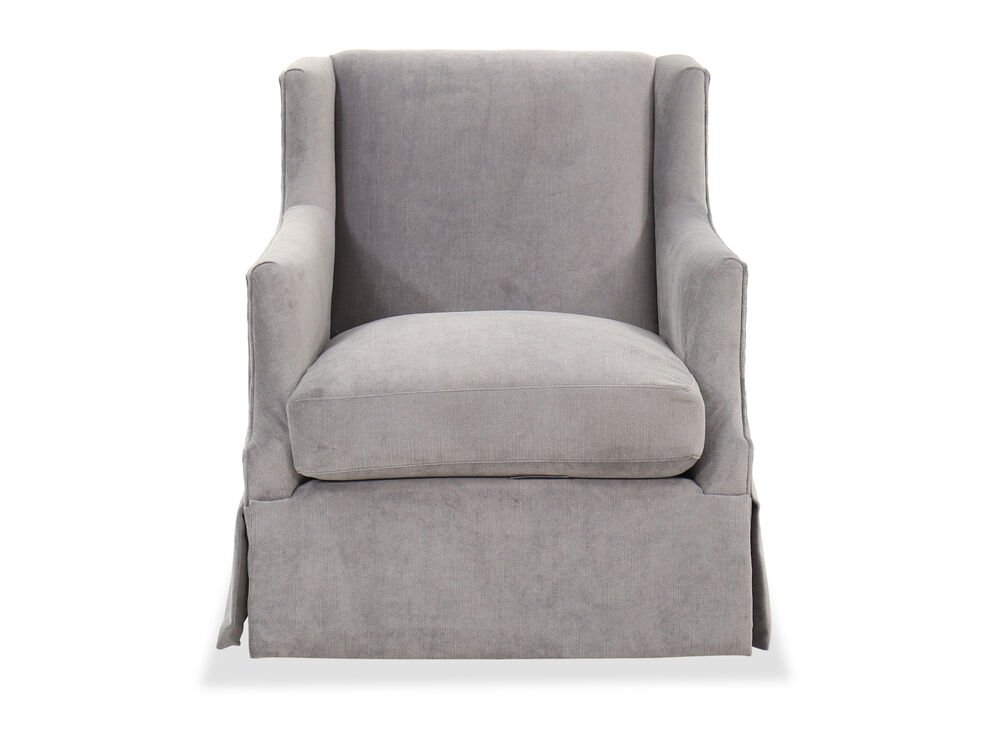 30'' Skirted Swivel Chair in Gray