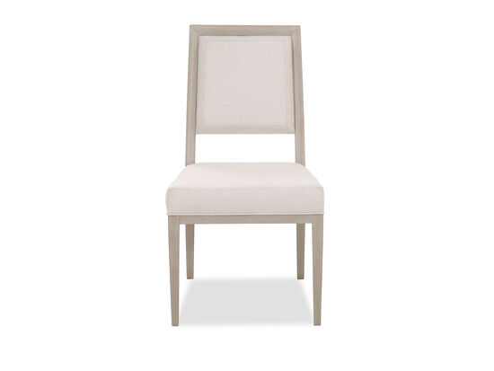 "Transitional 39"" Side Chair in Beige"