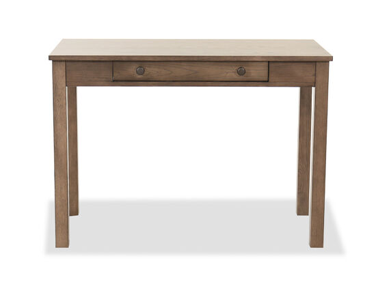 42'' One-Drawer Traditional Writing Desk in Brown