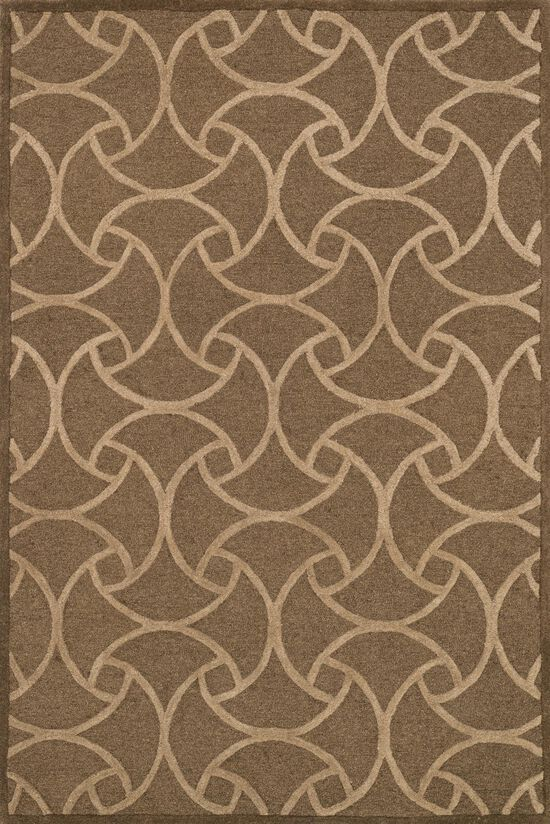 "Transitional 7'-6""x7'-6"" Square Rug in Lt. Brown/Beige"