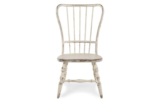 Spindle Back 18'' Side Chair in Antique White