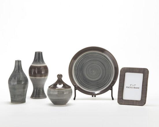 Five-Piece Contemporary Accessories in Gray